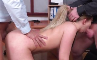 Deep double penetration with sweet Selvaggia