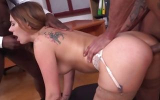 Interracial threesome with nasty Ani Black Fox