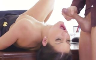 Curios Annie Wolf nicely jumping on strong prick